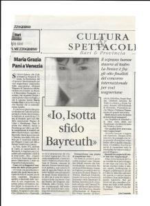 articolo concorso wagner 2006