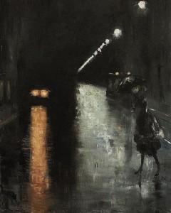vista notturna di Lesser Ury 1920